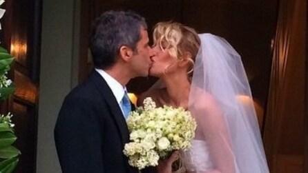 L'abito da sposa di Alessia Marcuzzi