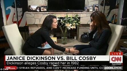 """Janice Dickinson contro Bill Cosby: """"Sei un mostro"""""""
