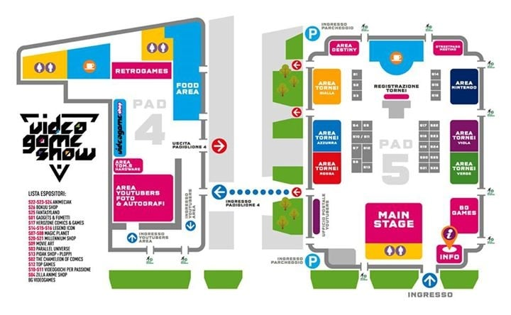 Mappa STAGE dell'evento
