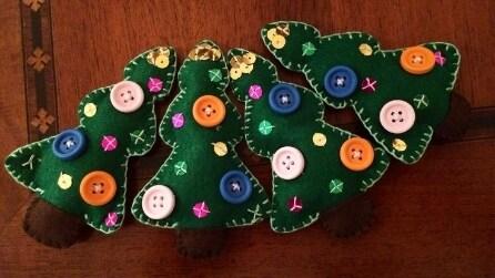 Lavoretti natalizi per bambini in pannolenci