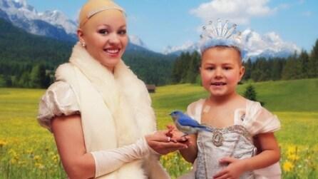 La Principessa Cenerentola diventa calva per combattere il cancro