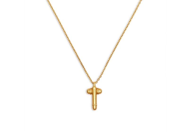 Collana dorata con ciondolo a forma di pene di Tom Ford - Dimensione grande