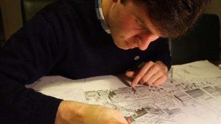L'uomo che disegna le città solo con l'aiuto della memoria