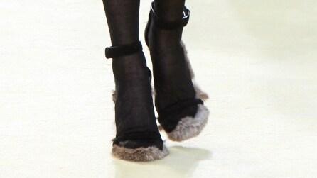 Kim Kardashian e i sandali di pelo
