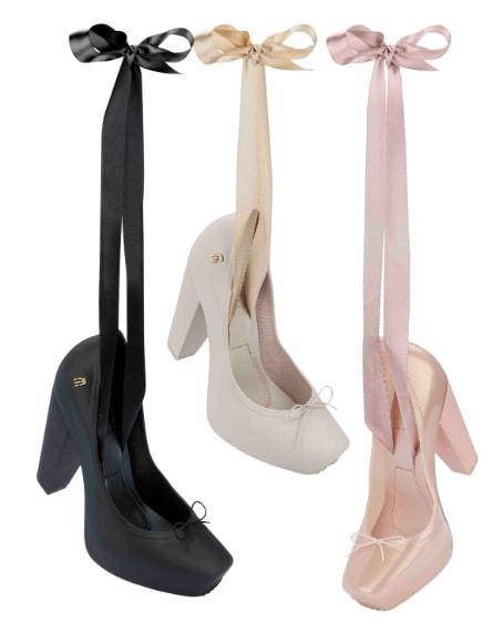 Scarpette da ballerina con tacco