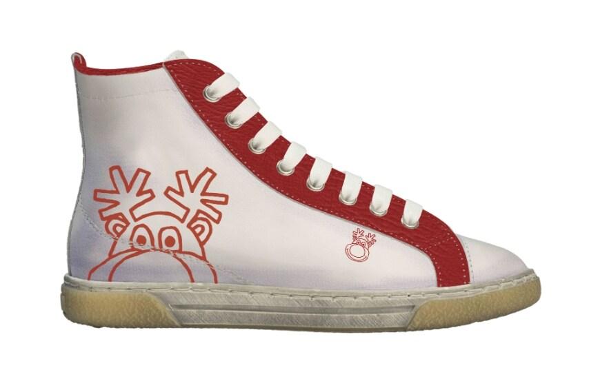 Sneakers a stivaletto con stampa