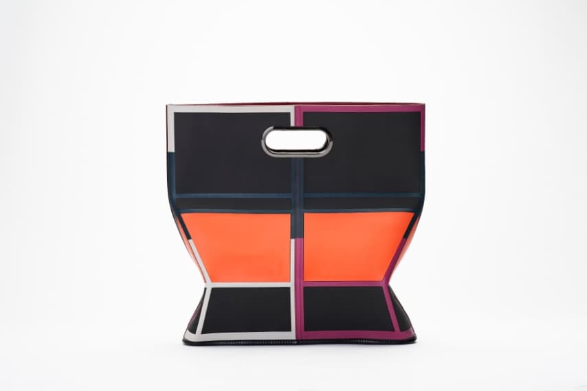 Borsa geometrica color block