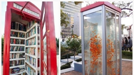 La seconda vita delle cabine telefoniche: 10 idee per riutilizzarle in modo creativo
