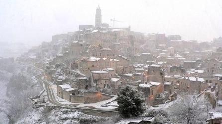 Neve al centro-sud: le foto postate su Twitter