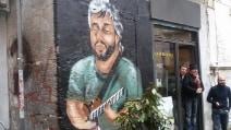 Pino Daniele, un altro murales ai Banchi Nuovi