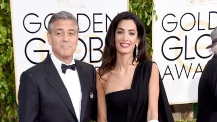 George Clooney e Amal Alamuddin ai Golden Globe