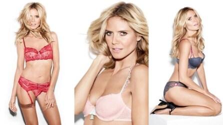 Heidi Klum posa in intimo per la sua collezione di lingerie
