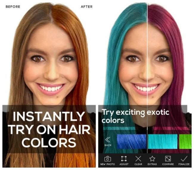 L'App che ti aiuta nella scelta del tuo nuovo colore di capelli. Ti basterà caricare una tua foto per confrontare in tempo reale il tuo colore di capelli attuale con quello che vorresti provare.