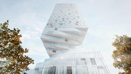 Vienna, la torre è una clessidra che ruota per far passare il sole
