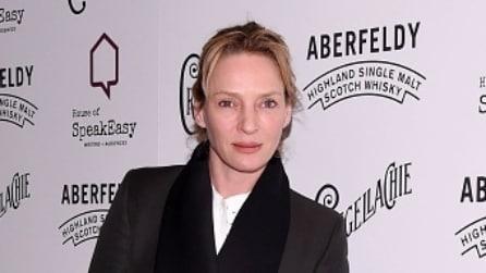 Uma Thurman struccata e con i capelli arruffati: ecco la caduta di stile dell'attrice