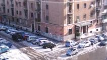 Grandine su Roma, la città si sveglia imbiancata