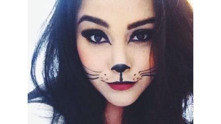 Trucco da gatta per Carnevale