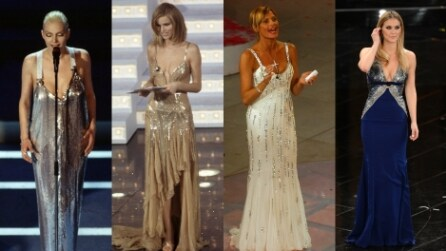 I look delle donne di Sanremo dagli anni '90 ad oggi