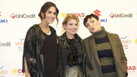 Il look delle vallette di Sanremo 2015 alla conferenza stampa