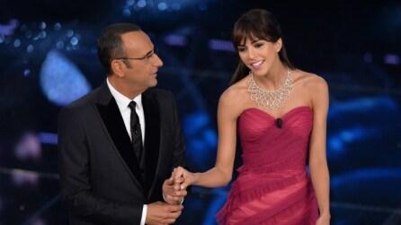 Il look di Rocío Muñoz Morales per la finale di Sanremo 2015