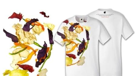 I piatti tipici italiani vengono raffigurati sulle t-shirt degli chef famosi