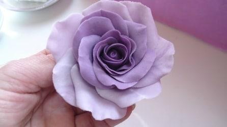 Passo a passo: Rosa Pasta di gomma