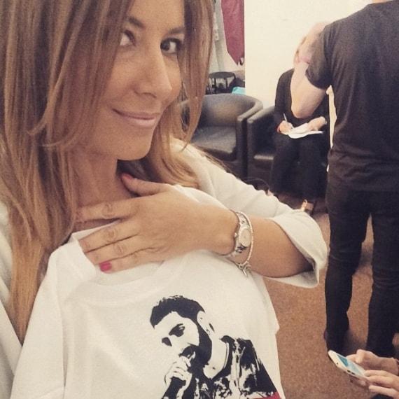 In occasione della finale di The Voice of Italy, Selvaggia Lucarelli ha sottolineato il suo tifo per Fabio Curto con questa maglietta.