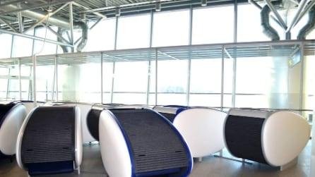 Le mini-capsule per dormire all'aeroporto di Helsinki