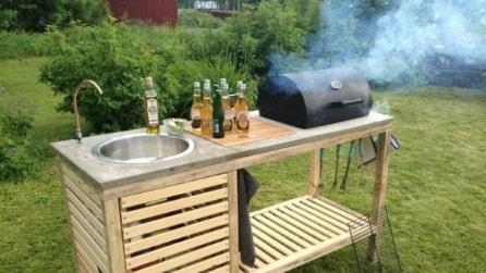 Realizza il mobile barbecue da giardino