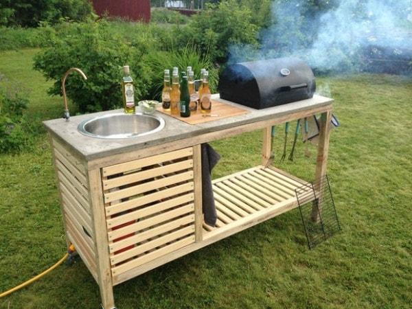 Tavolo Da Giardino Con Barbecue.Realizza Il Mobile Barbecue Da Giardino