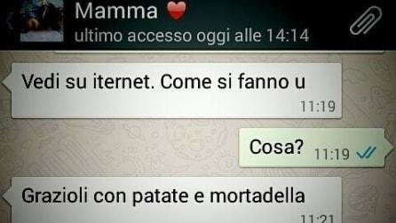 I messaggi inviati su Whatsapp dalle mamme