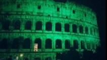 Sorpresa per San Patrizio, il Colosseo è tutto verde