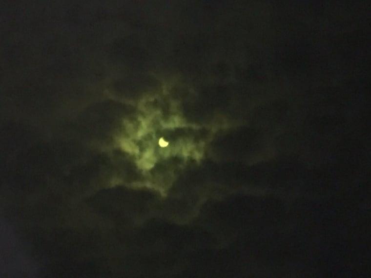 Il 20 marzo 2015 l'Eclissi vista dalla Sardegna, precisamente da Sassari. (Foto di Domenica C.)