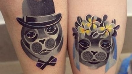 I tatuaggi di coppia più bizzarri del web