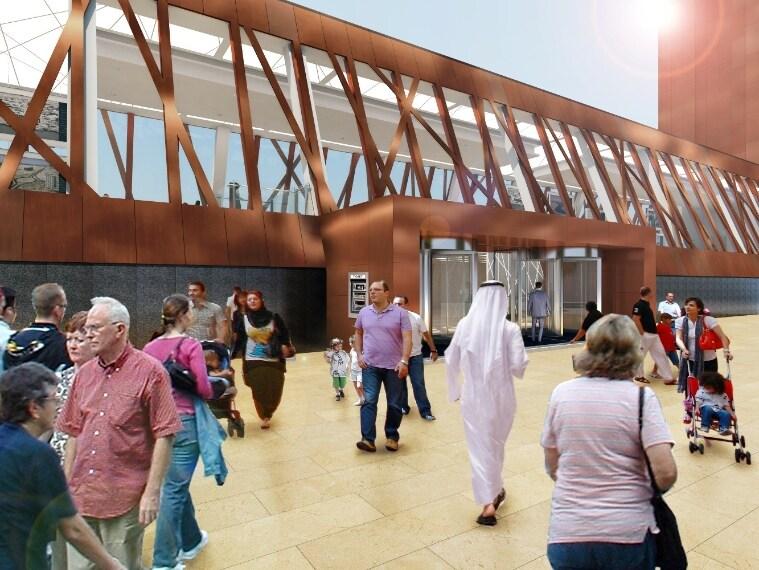 L'ingresso del museo sulla storia di Dubai