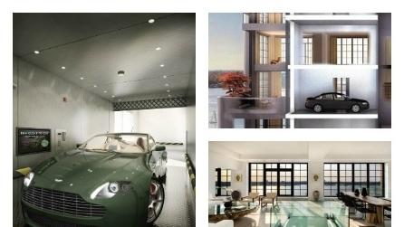 Penthouse 1, il primo attico al mondo con l'ascensore per l'auto
