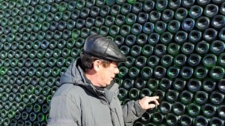Russia: ecco la casa realizzata con 12mila bottiglie di champagne