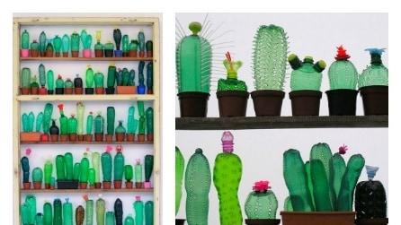 Sculture dal riciclo di bottiglie: la PET-art di Veronika Richterovà