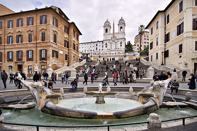 http://commons.wikimedia.org/wiki/File:Spanish_steps_Rome_Italy.jpg