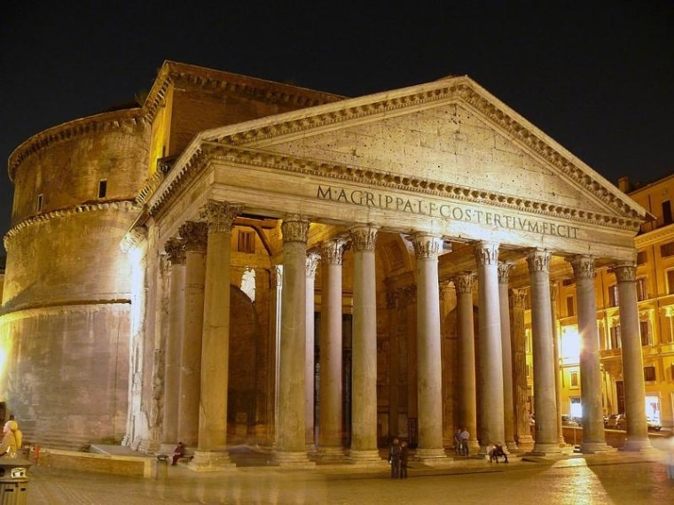 http://commons.wikimedia.org/wiki/File:Pantheon_by_night.jpg