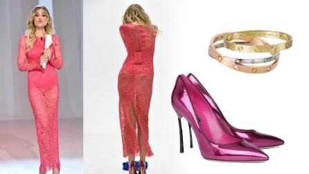 """Il look in stile Barbie di Ilary Blasi a """"Le Iene"""""""