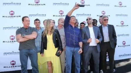 Selfie sul red carpet, da Scarlett Johansson a Stallone