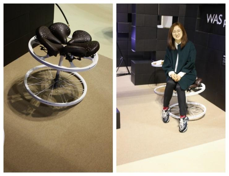 Was Project è uno studio di giovani architetti coreani che hanno realizzato arredi con rottami di biciclette trovati nel tempo vicino alla loro università.