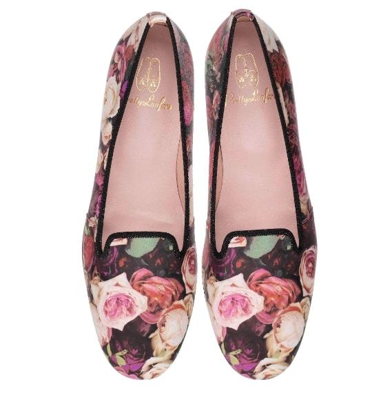 Slippers con decoro floreale Pretty Loafers