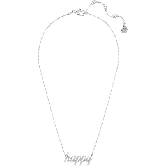 Collana in metallo rodiato con cristalli: Swarovski, prezzo 69 euro