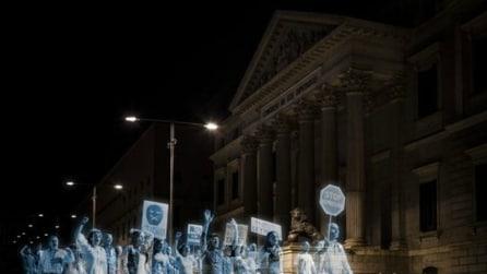 Madrid: la protesta diventa fantasma