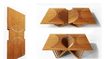 """Rising Table: ecco il primo tavolo che si monta """"lievitando"""""""