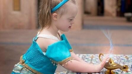 Ha la sindrome di Down e diventa una principessa Disney: le foto di Giselle