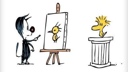 #DrawWoodstock, l'uccellino giallo amico di Snoopy invade Twitter