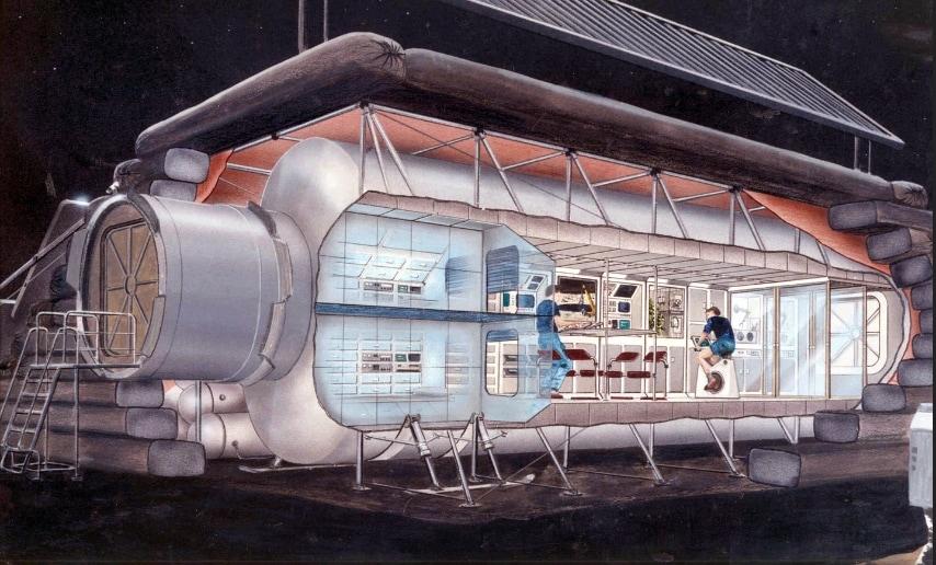 Appena un anno dopo la Nasa concepisce un modulo più compatto più simile a quella che poi sarà l'attuale Stazione Spaziale. FONTE: NASA